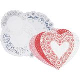 Doilies Heart - Red (4)