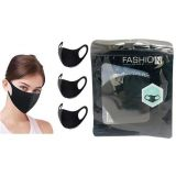 Fashion Cloth Mask Black - Single