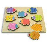 Green Start Chunky Wooden Puzzles - Swish Fish