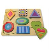 Green Start Chunky Wooden Puzzles - Shape Parade