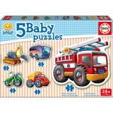 5 Baby Puzzles - Vehicles