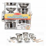 Deluxe Stainless Steel Pots & Pans Play Set 15Pc