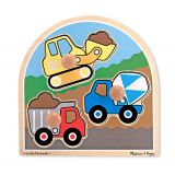 Jumbo Knob Puzzle - Construction Vehicles