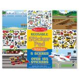 Vehicles Reusable Stickers Pad (165 Pieces)