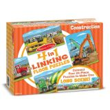 4-in-1 Linking Floor Puzzles - Construction 96 Pieces