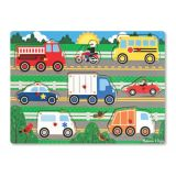 Peg Puzzles - Vehicles