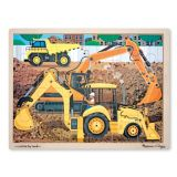 Construction Site Wooden Jigsaw Puzzle - 24 Pieces