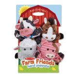 Farm Friends Hand Puppets (Set of 4)