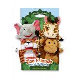 Zoo Friends Hand Puppets (Set of 4)