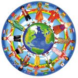 Floor Puzzle - Children Around the World  - 48 pieces, 32 diameter