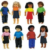 16 Multicultural Toddler Dolls Set Of 8