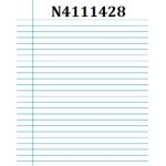 """Junior Exercise Books - 7""""x9"""" (Ruling over 7"""" side -  with Margin, 40 pages, 25/pk)"""