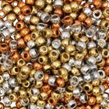 Pony Beads Gold Silver Copper 500/Pk