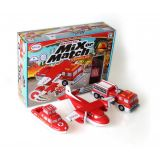 Mix or Match Vehicles Fire and Rescue (Bilingual)