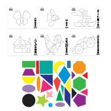 Geo Shapes & Patterning Cards 800Pcs