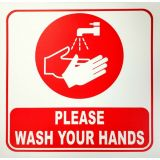 Wash Yor Hands Wall Sticker - 12 Square