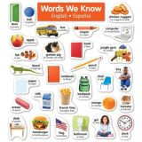 Words We Know English-Spanish Photo Word Wall  Bulletin Board