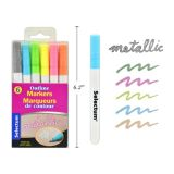 Outline Markers Bullet Tip-6 Pcs