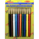 All Plastic Begginers Brush - Stubby (10/pk)
