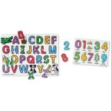 See-Inside Peg Puzzles - Set of 2: Alphabet and Numbers