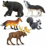 Set Of North American Animals 5 Pack