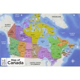 Map of Canada - Laminated (French/English)