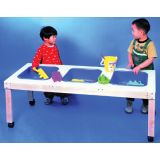 3-Tub Sensory Play Table 51L x 21W x 18H