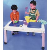 2-Tub Sensory Play Table 34L x 21W x 18H