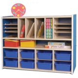 Melamine Multipurpose Storage - with Casters (Natural)