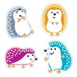 Colorful Hedgehogs Classic Accents 36Pk