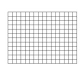 Wipe-Off® Charts - Graphing Grid 1.5 Squares (22x28)