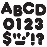 Black 2-Inch Casual Uppercase Letters