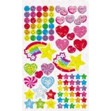 Stickers 336/pk - Sparkly Stars, Hearts and Smiles