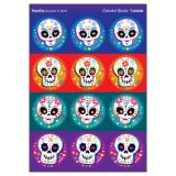 Colorful Skulls Round Stickers