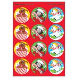 Holiday Pals/Peppermint Round Stickers