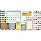 I Love Metal Calendar Bulletin Board Set