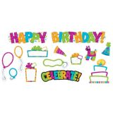 Color Harmony Wipeoff Birthday Mini Bulletin Board Set