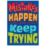 Mistakes HAPPEN Keep TRYING Poster
