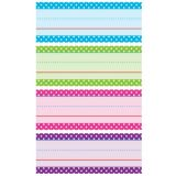 Bright Colors Polks Dots Word Strips
