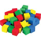 Multicolour 0.75 Foam Cubes 40/Pk