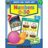 Numbers 0-30 Write-On Wipe-Off Book