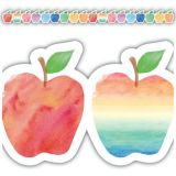 Apples Die-Cut Watercolor Border Trim