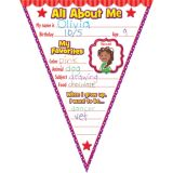 All About Me Pennants Bulletin Board Display Set