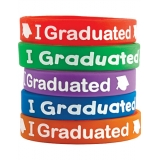 I Graduated Wristbands (10/pk)