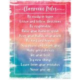 Classroom Rules Watercolor Chart
