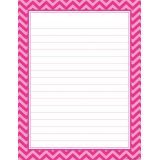 Hot Pink Chevron Lined Chart