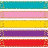 Confetti Colorful Labels Magnetic Accent