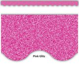Pink Glitz Scalloped Border Trim