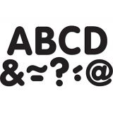 Black Classic 2 Magnetic Letters
