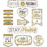 Positive Saying Confetti Accents